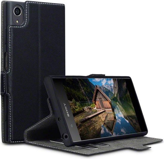 Sony Xperia XA1 Plus hoesje - Terrapin - Zwart - Kunstleer