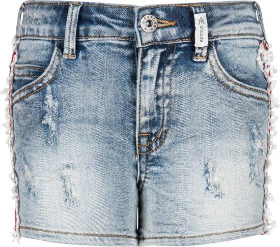 Retour Jeans Meisjes Korte broek - Vintage blue denim - Maat 110