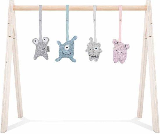 Jollein speeltjes set Confetti Monsters (4stuks) excl. babygym Multi colour