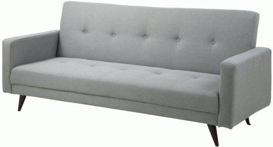 Mooie Moderne Slaapbank.Fyn Lester Bedbank Lichtgrijs