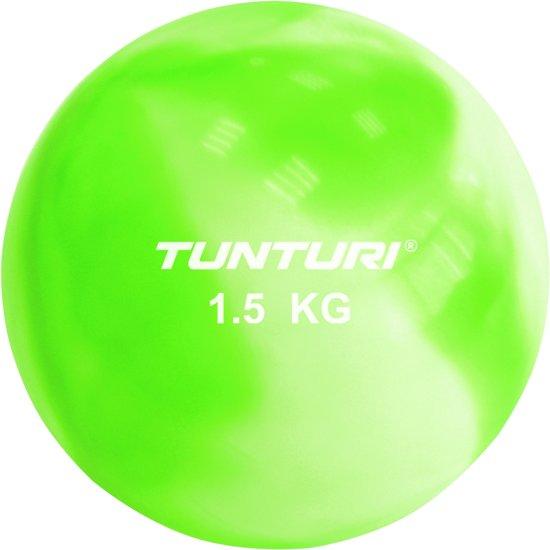 Tunturi Yoga Toningbal - Yoga bal - Fitnessbal - 1,5 kg - Groen