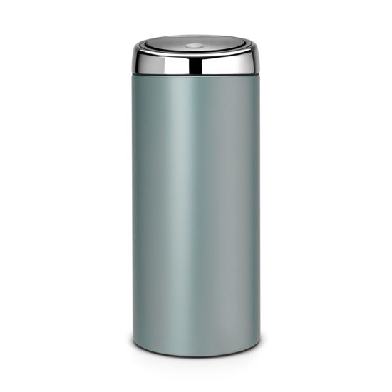 brabantia touch bin prullenbak 30 l metallic mint. Black Bedroom Furniture Sets. Home Design Ideas