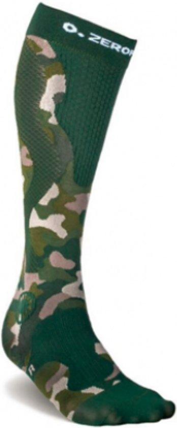 ZeroPoint compressie sokken Intense Camo-Groen - heren M2