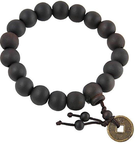 Buddha Armband - Mala - 11-12mm - Bruin