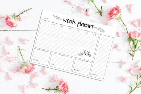 Weekplanner A3 Zwart wit - Bureauonderlegger Familieplanner - DesignClaud