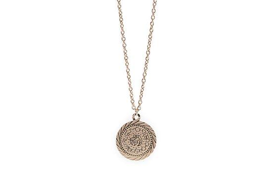 Halsketting gypsy coin 68 cm (korter verstelbaar) rose all day
