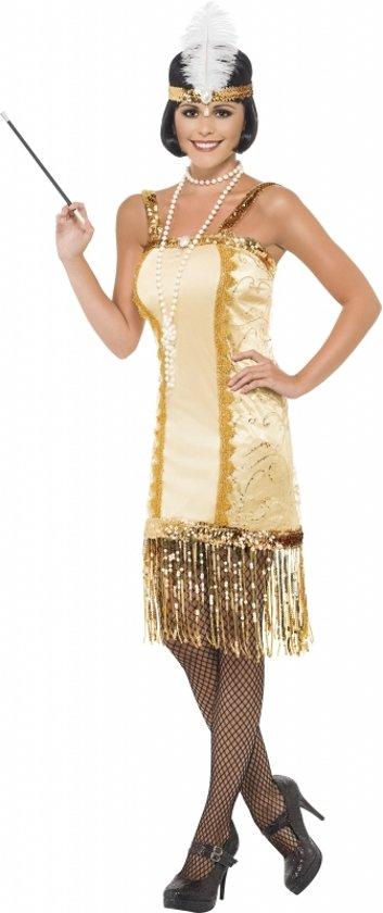 d09abe42939e5d Gouden Charleston flapper jurkje 40-42 (m)
