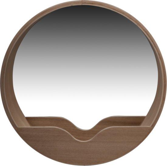 zuiver round wall 39 60 spiegel bruin. Black Bedroom Furniture Sets. Home Design Ideas