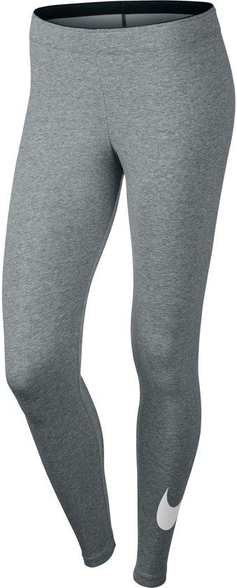 Nike Legging Club Logo Sportlegging Dames - Grijs/Wit