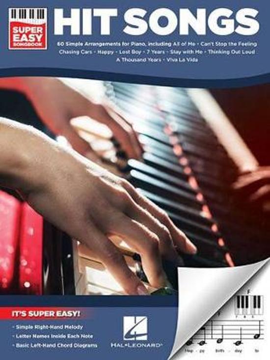 Boek cover Hit Songs Super Easy Songbook (Piano) van Hal Leonard Publishing Corporati (Paperback)
