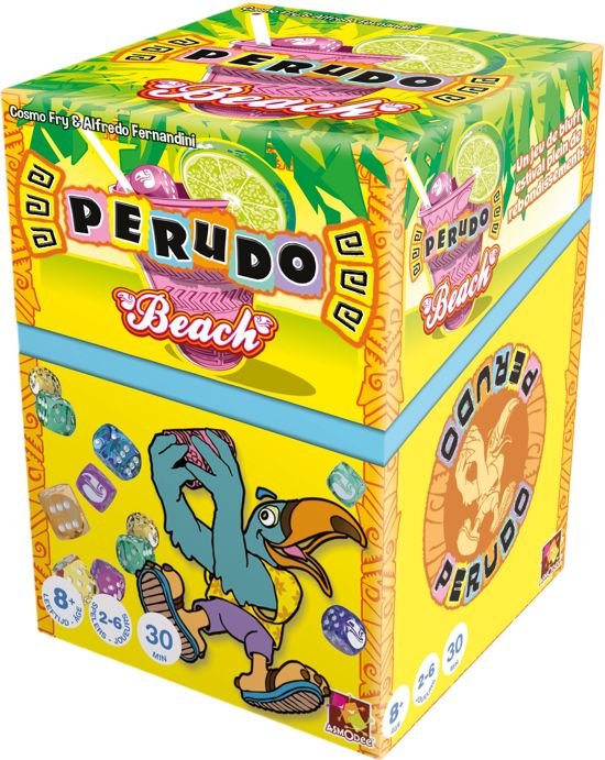 Thumbnail van een extra afbeelding van het spel Perudo Beach - Dobbelspel - NL/FR