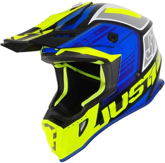 Just1 J38 Crosshelm Blade Blue/Fluo Yellow/Black Gloss-S