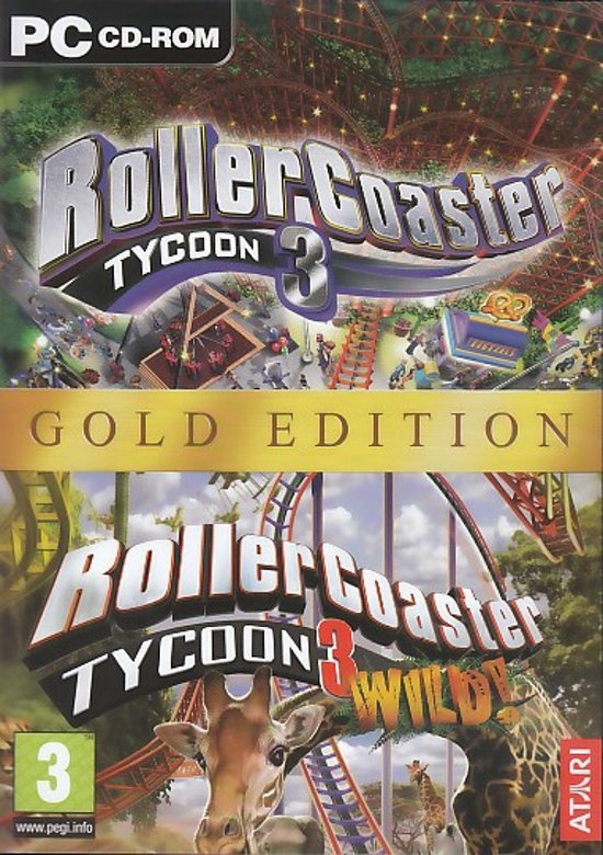 Rollercoaster Tycoon 3 - Gold Edition (Volledig Engelstalig) - PC