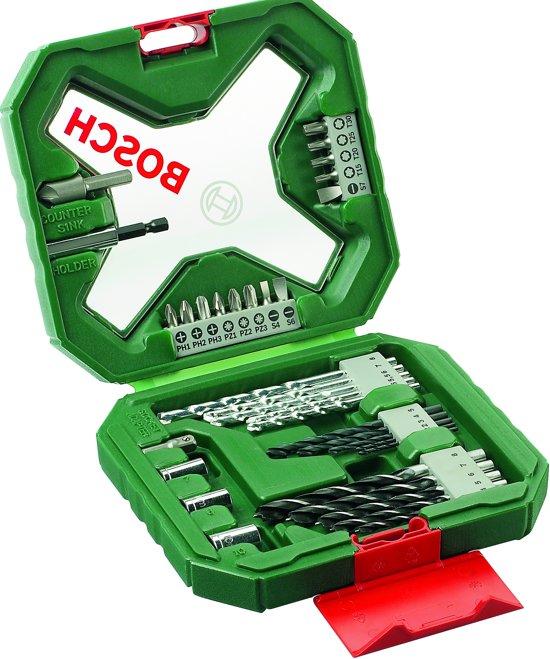 Bosch X-Line borenset - 34-delig - Voor hout, metaal en steen