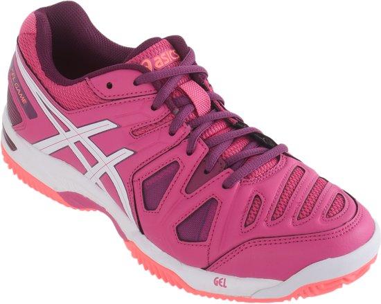 Asics Gel-Game 5 Clay Tennisschoenen - Maat 38 - Vrouwen - roze/wit