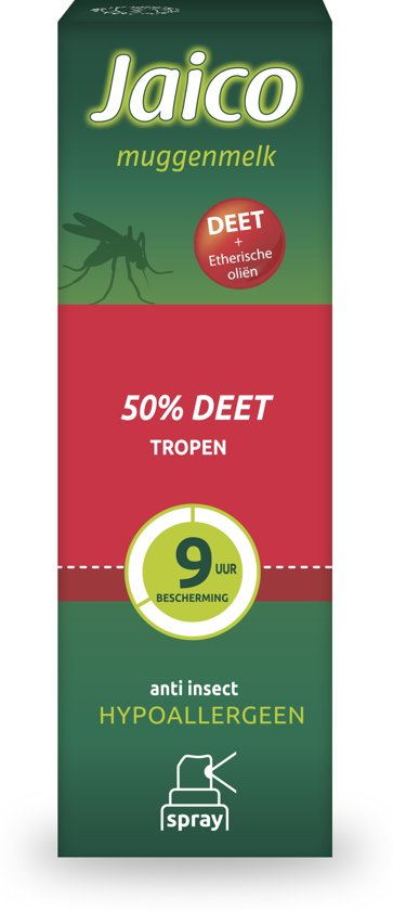 Jaico Muggenmelk Spray 50% Deet - Muggenspray - 50ml