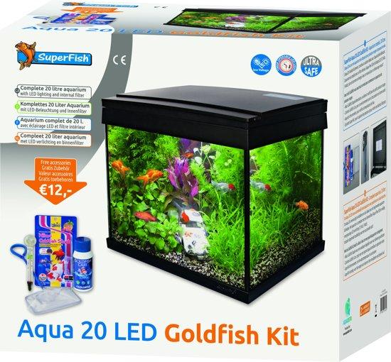 Superfish aqua 20 goldfish kid led aquarium for Superfish led verlichting