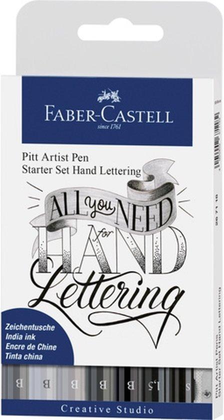 Faber-Castell Pitt Artist Pen Handlettering 8-delig basisetui