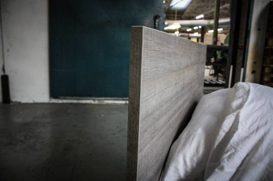 Beuk Bedframe 90X200 cm - Donker Grijs Hout - Best - incl lattenbodem