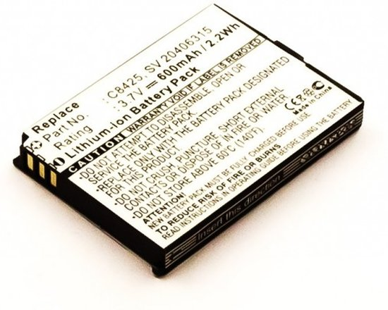 Batterij voor Swissvoice eSense, Li-ion, 3,7V, 600mAh, 2,2Wh