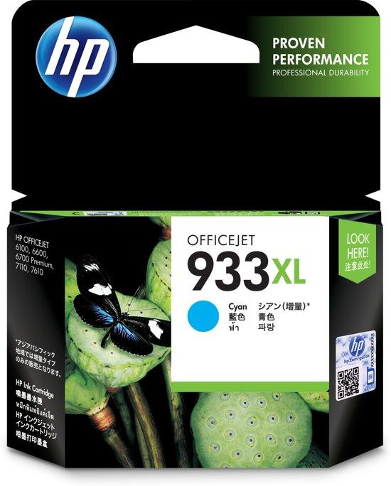 HP 933XL - Inktcartridge / Cyaan / Hoge Capaciteit