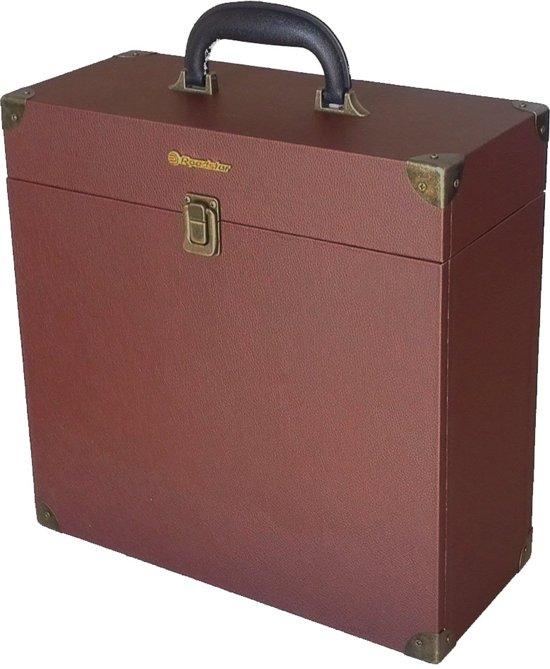 Roadstar BOX-TT1 LP's Harde schalen Bruin audioapparatuurtas
