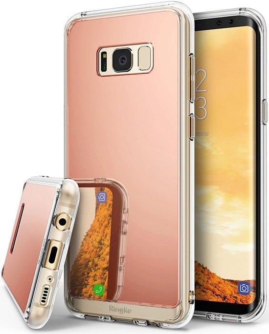 Ringke Mirror Samsung Galaxy S8 Plus Cover Rose Gold in Zandpol