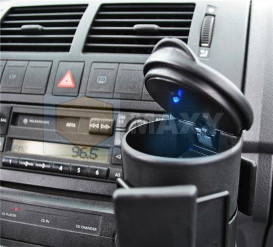 auto asbak bekerhouder met led verlichting rookvrije staande sigaretten asbak met deksel