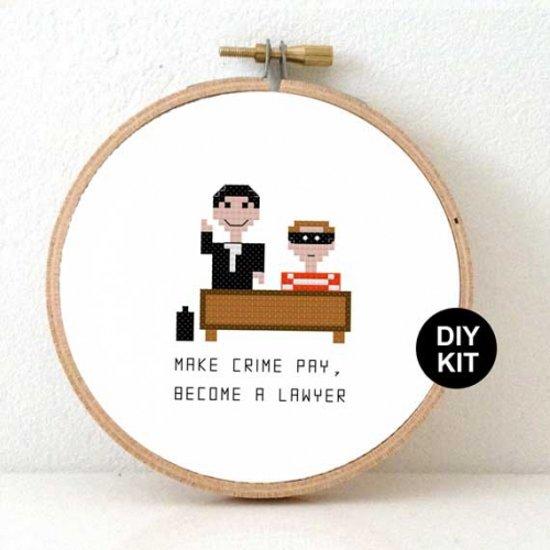 Citaten Grappig Cadeau : Bol borduurpakket advocaat grappig kado voor man maken