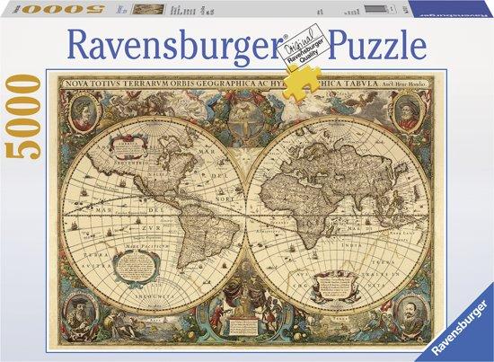 Bolcom Ravensburger Puzzel Antieke Wereldkaart Legpuzzel 5000