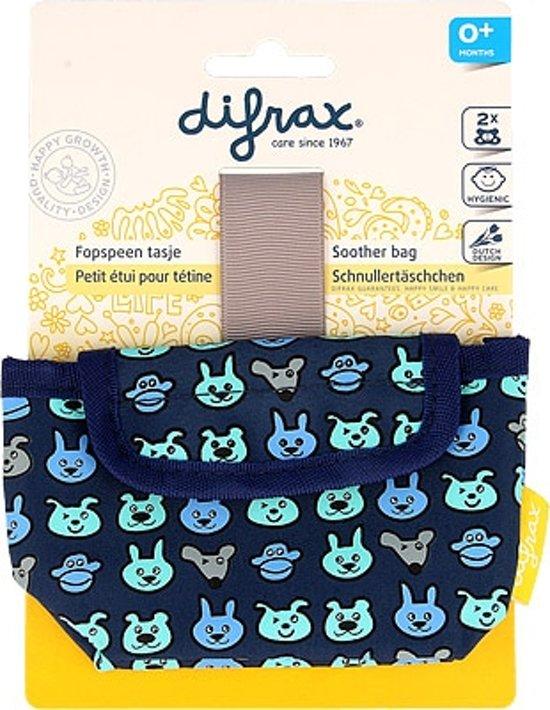 Difrax fopspeen tasje voor 2 spenen - jongen