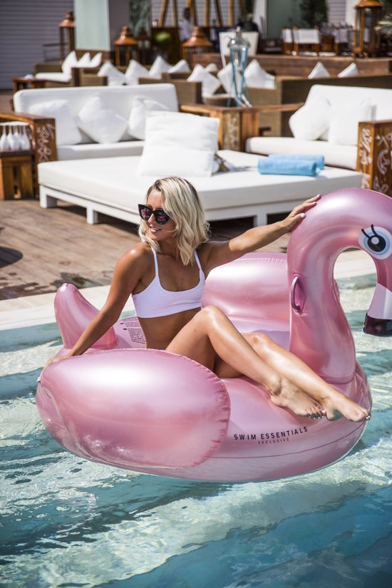Swim Essentials Opblaasbare Ride-On Flamingo 150 cm