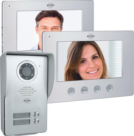 Wat Is Een Intercom.Elro Dv477w2 Video Deur Intercom 2 Appartementen Met 2x 7 Inch Kleurenscherm