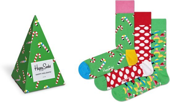 Happy Socks Holiday Tree Giftbox - Maat 36-40