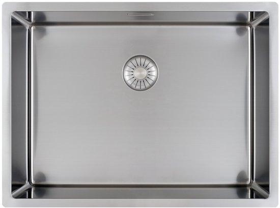 Wasbak Keuken Opbouw : Bol.com caressi capp55r10 rvs spoelbak