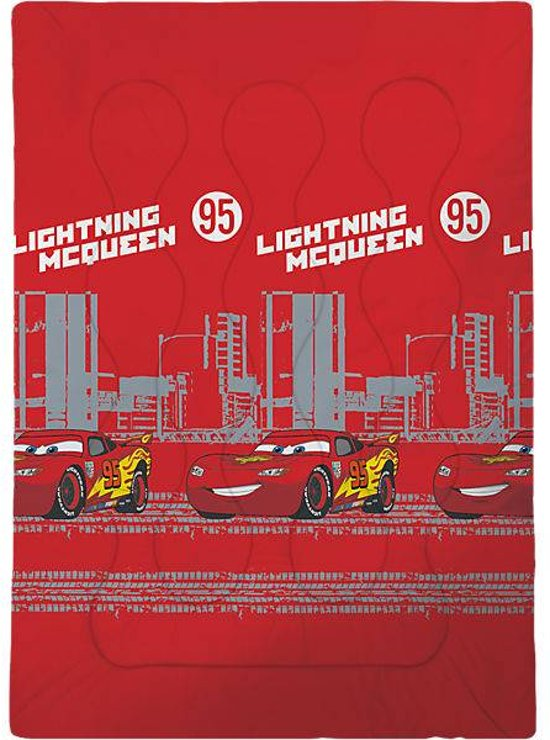Disney Cars Indianapolis - Beddensprei - 140 x 200 cm - Rood