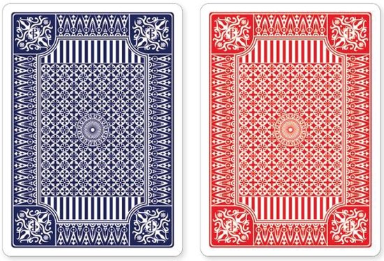 Afbeelding van het spel Blue and Red Premium Plastic Playing Cards