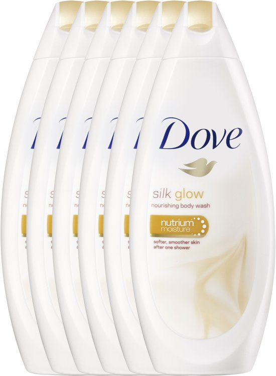 Dove Silk Glow Women Douchegel - 6 x 250 ml - Voordeelverpakking