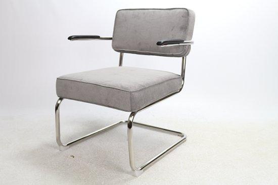 Bol.com rib fauteuil grijs