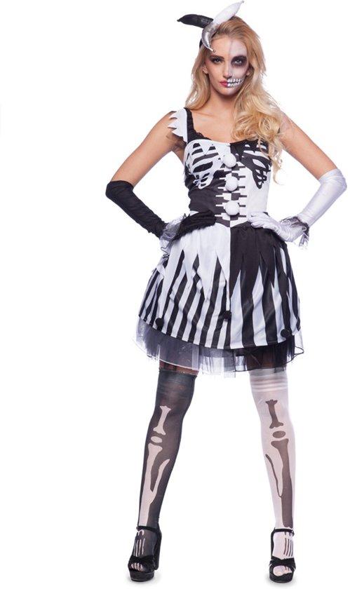 Uitzonderlijk bol.com | Zwart en wit clown skelet kostuum voor vrouwen @KI39