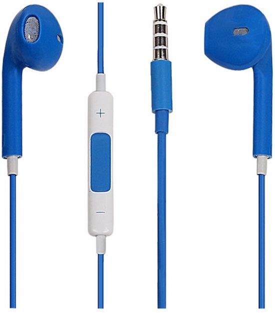 Verrassend bol.com | Headset Oordopjes voor iPhone 6/6s Blauw met microfoon QM-09