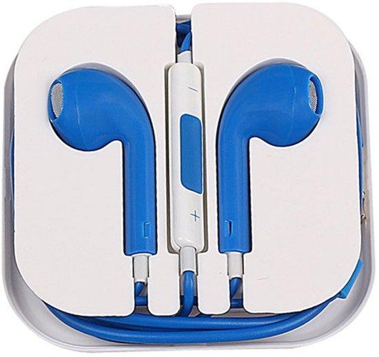 Welp bol.com | Headset Oordopjes voor iPhone 6/6s Blauw met microfoon WT-08