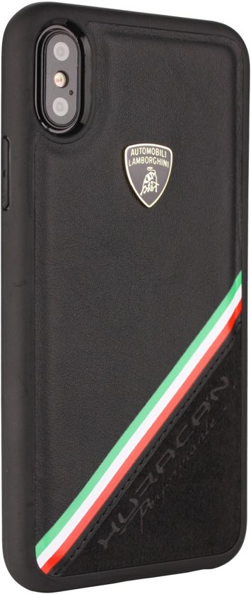 Lamborghini backcover Alcantara Apple iPhone XR - Zwart