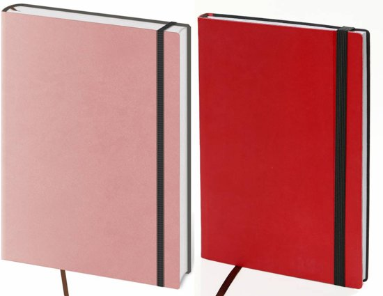 Kalpa 7124 - 2 Flexies notitieboekjes rood en roze