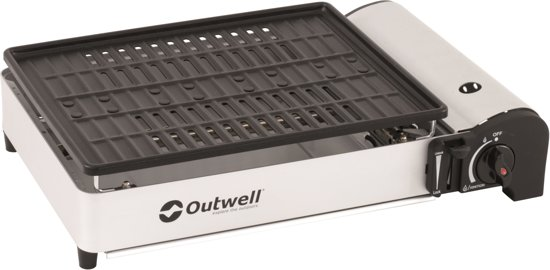Outwell Crest Gas Grill Campingkooktoestel - White/black