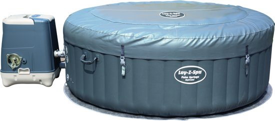 Lay-z-spa Opblaasbare Jacuzzi Palm Springs Donkergrijs 196 X 71 Cm