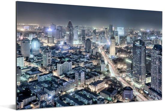 Overzicht van de Chinese stad Tianjin Aluminium 180x120 cm - Foto print op Aluminium (metaal wanddecoratie) XXL / Groot formaat!