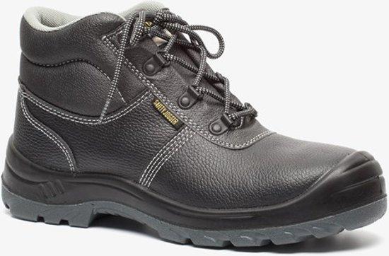 Safety Jogger BESTBOY heren leren werkschoenen S3 Zwart Maat 41