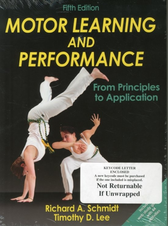 Motor Learning and Performance-5th Edition With Web Study Guide