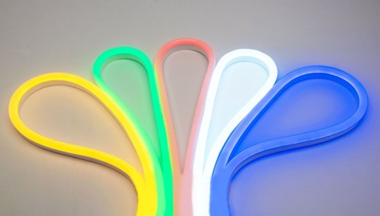 Groenovatie RGB LED Neon Flex 230V - 1 Meter - 8 Watt/m - Waterdicht IP67